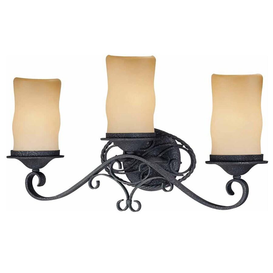 Tabor 3-Light Antique Iron Vanity Light