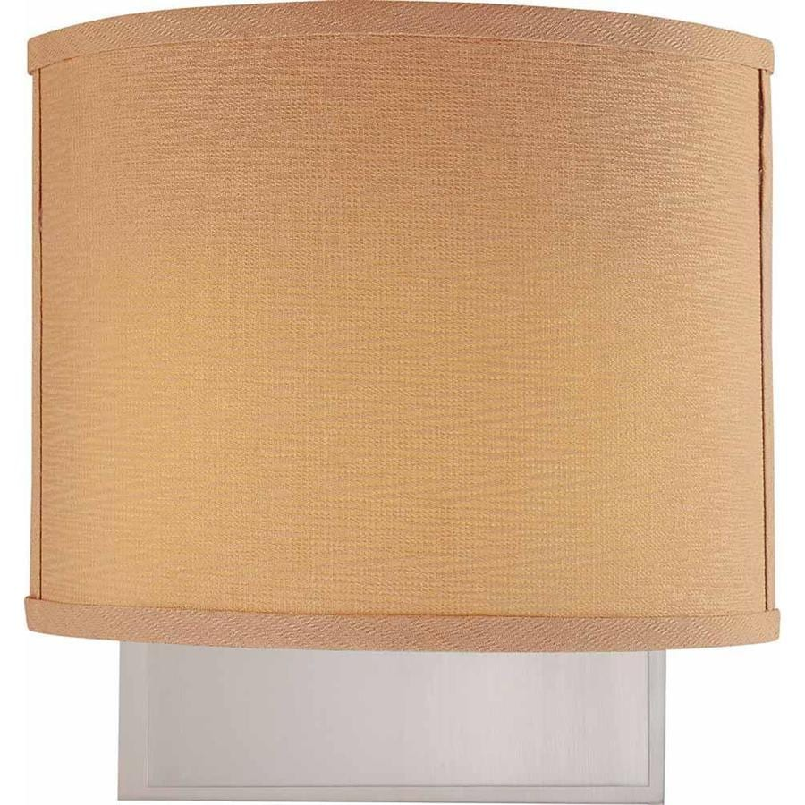 Gillham 11-in W 2-Light Brushed Nickel Directional Hardwired Wall Sconce