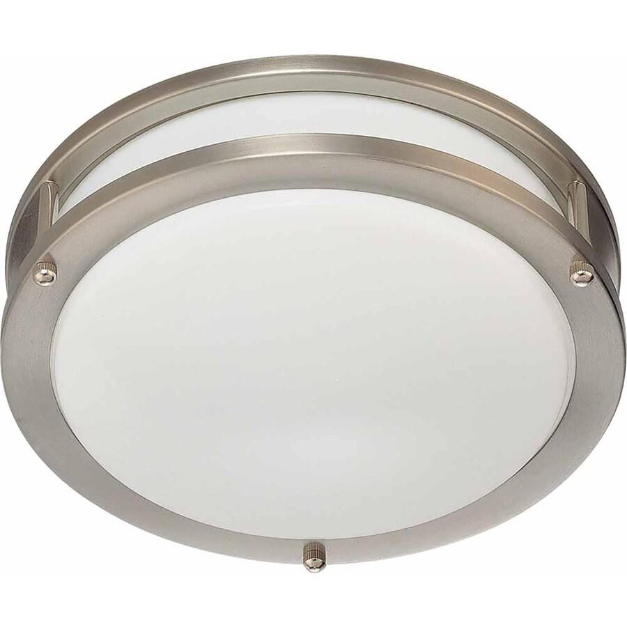 Hearne 10-in W Brushed Nickel Ceiling Flush Mount Light