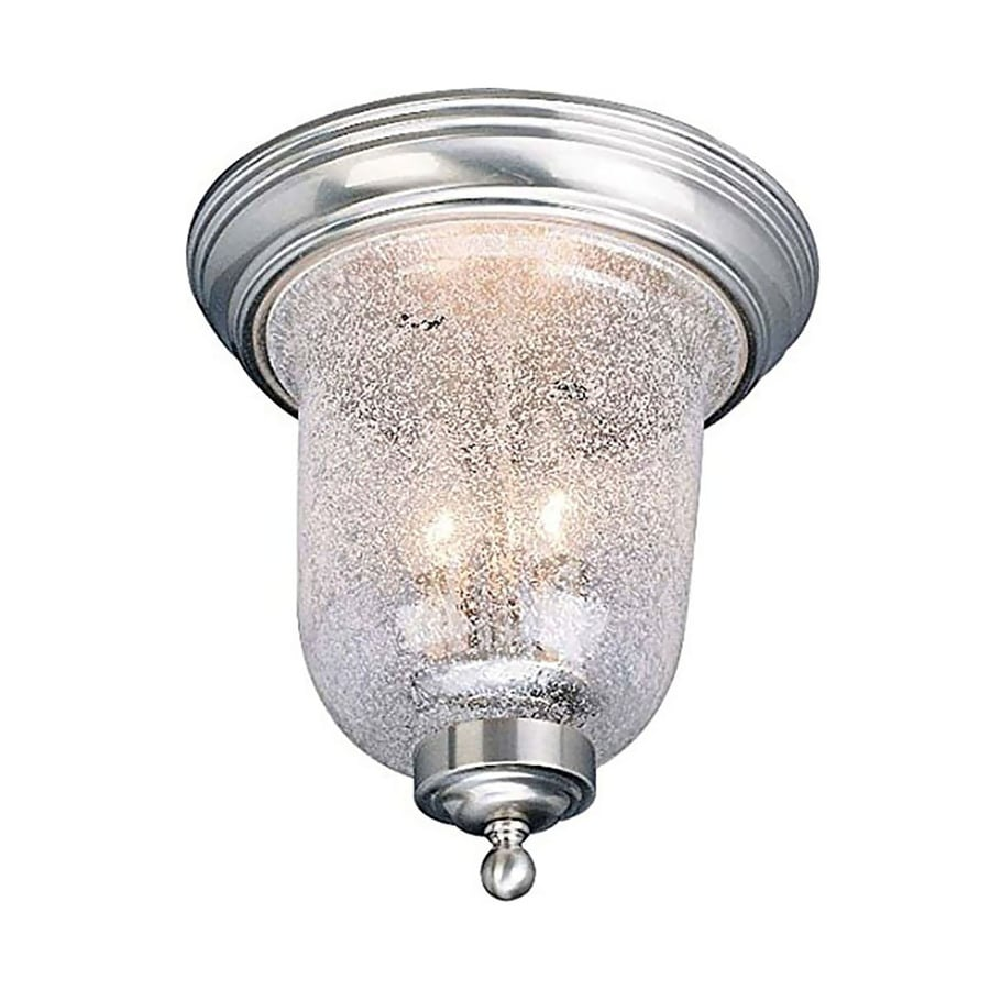 Rixford 10.5-in W Brushed Nickel Ceiling Flush Mount Light