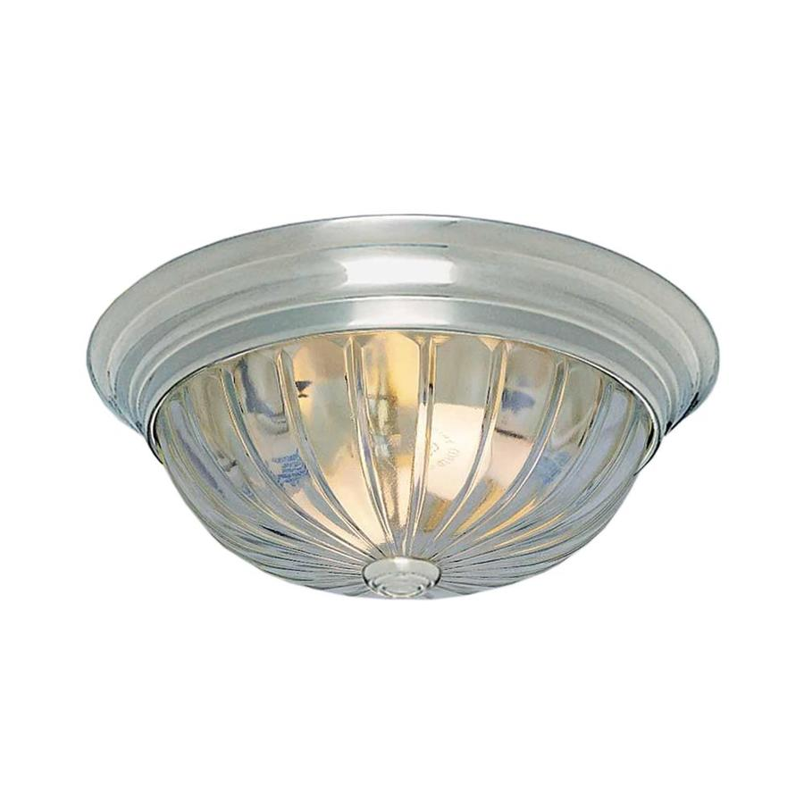 Creola 13-in W Brushed Nickel Ceiling Flush Mount Light