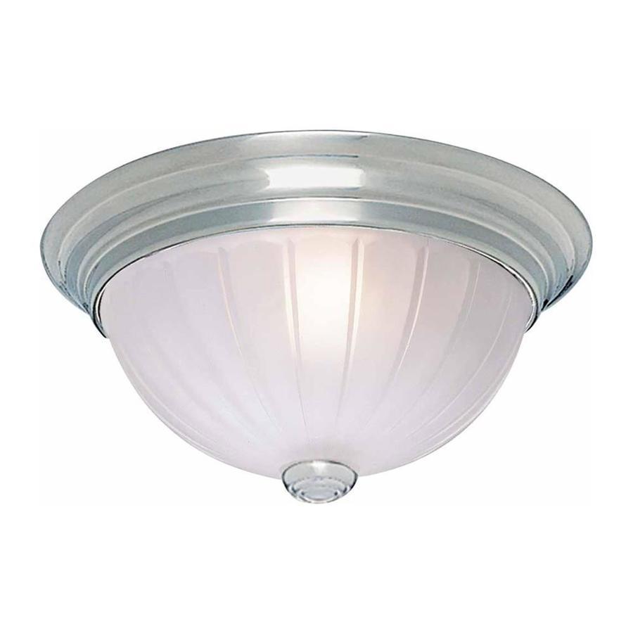 Milroy 11-in W Brushed Nickel Ceiling Flush Mount Light