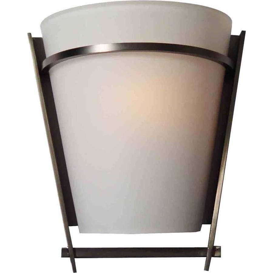 Burrus 9-in W 1-Light Black Brushed Nickel Directional Hardwired Wall Sconce