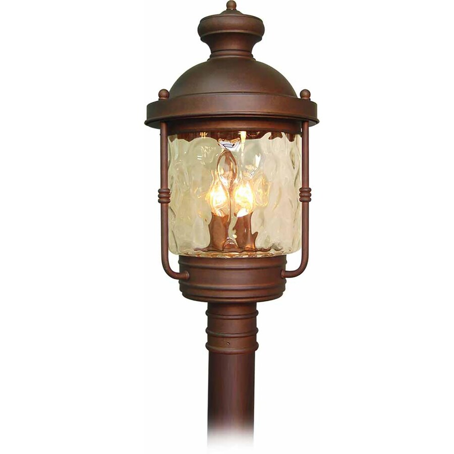 Karluk 24.25-in H Burnished Bronze Post Light