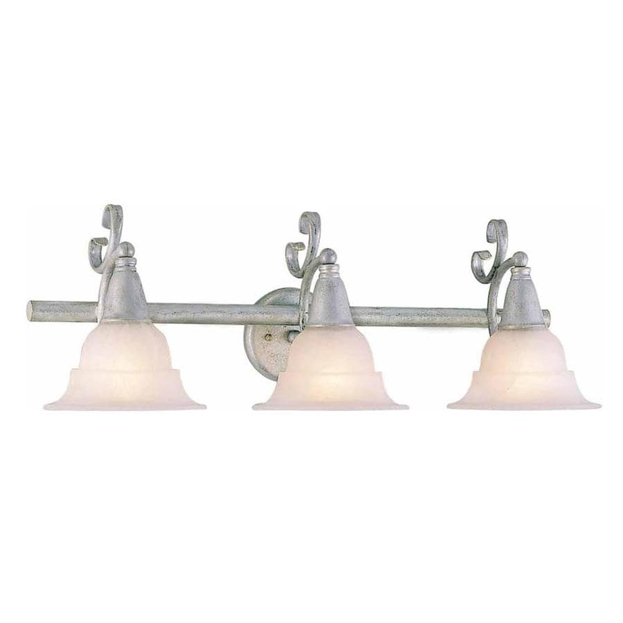 Fabens 3-Light Platinum Rust Vanity Light