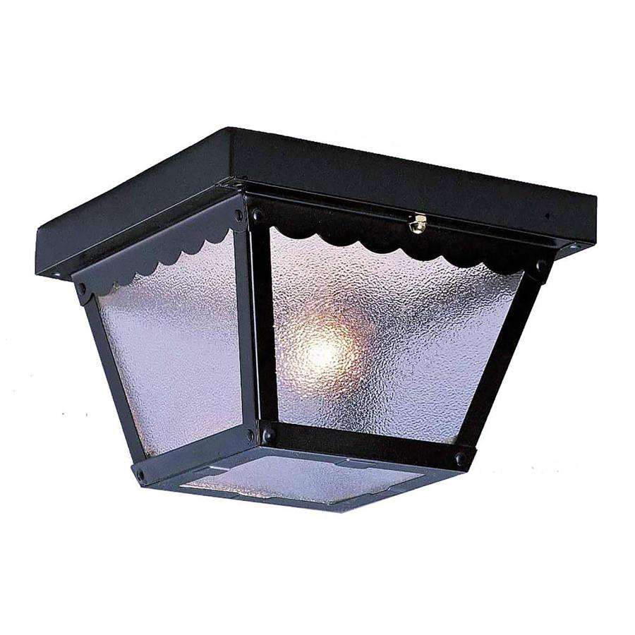 Cambria 7.5-in W Black Outdoor Flush-Mount Light