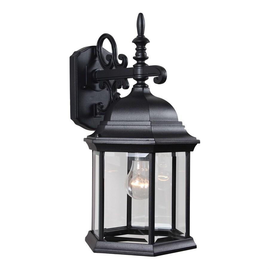 Slayton 18.75-in H Black Outdoor Wall Light