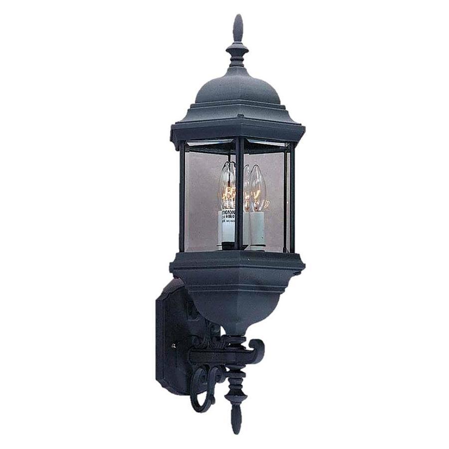Slayton 26.5-in H Black Outdoor Wall Light