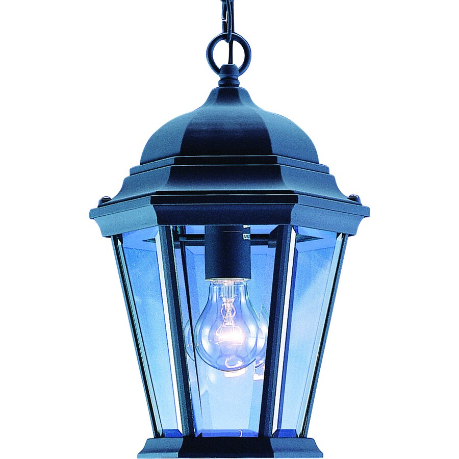 Wasta 14.25-in Black Outdoor Pendant Light