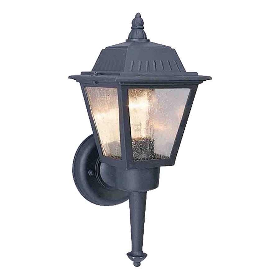 Honomu 13.75-in H Black Outdoor Wall Light