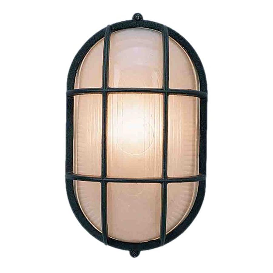 Cortaro 11-in H Black Outdoor Wall Light