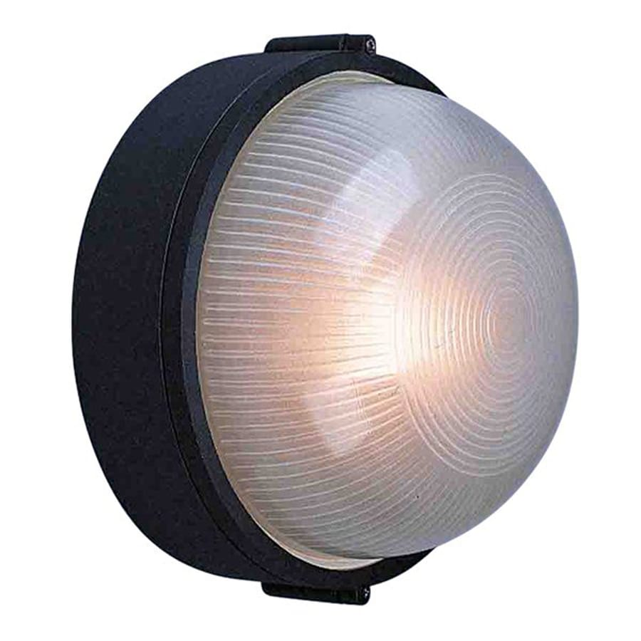 Burhans 10-in H Black Outdoor Wall Light