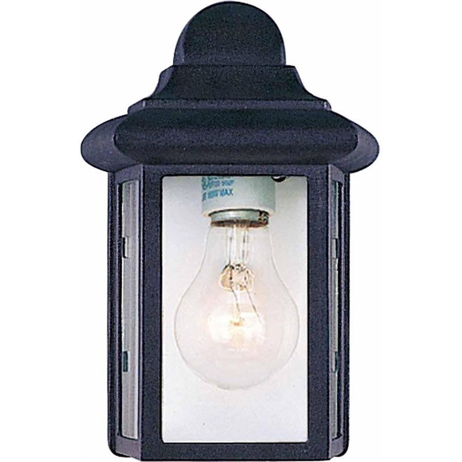 Murdo 8.75-in H Black Outdoor Wall Light