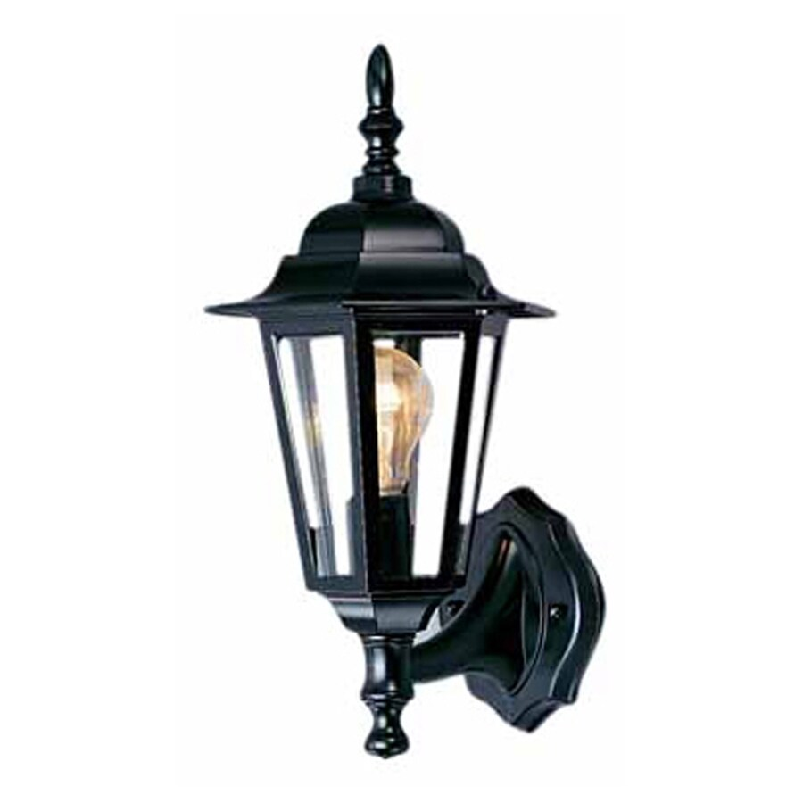 Tappen 15.5-in H Black Outdoor Wall Light