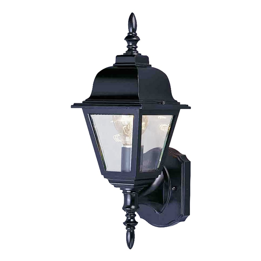 Wortham 16.5-in H Black Outdoor Wall Light