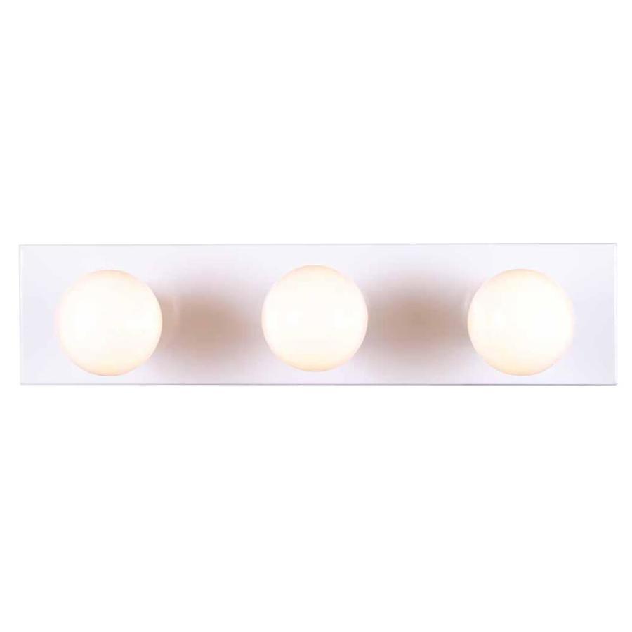 Houma 3-Light White Vanity Light