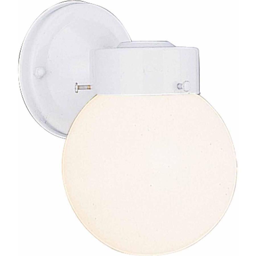 Melber 8.5-in H White Outdoor Wall Light
