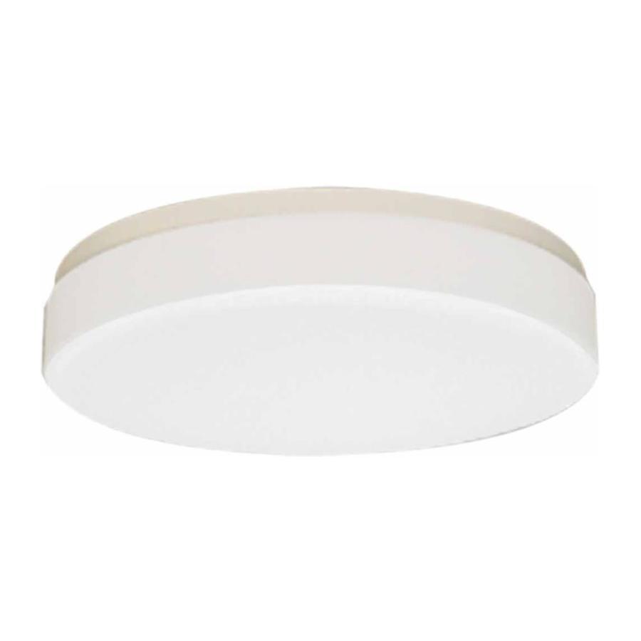 Juniata 14-in W White Ceiling Flush Mount Light