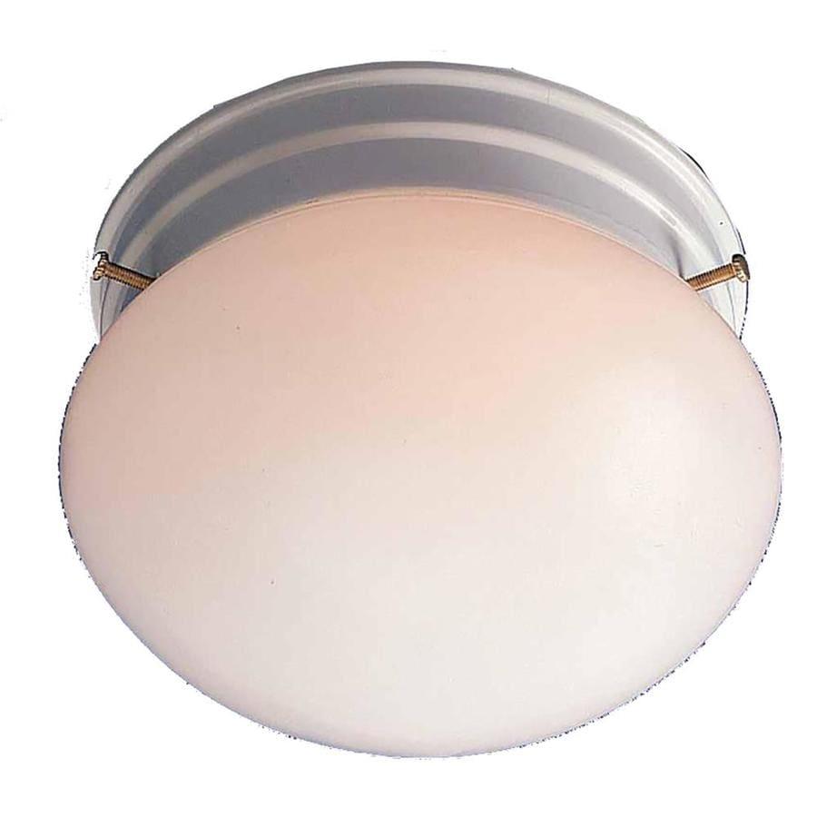 Glynn 7-in W White Ceiling Flush Mount Light