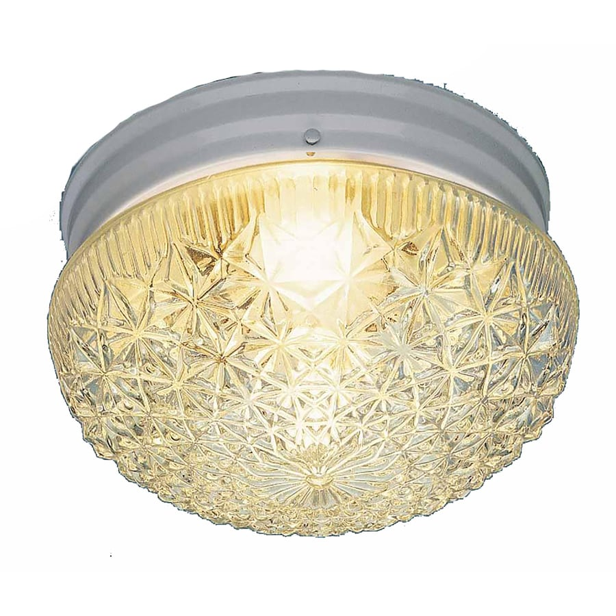 Trenary 7.5-in W White Ceiling Flush Mount Light