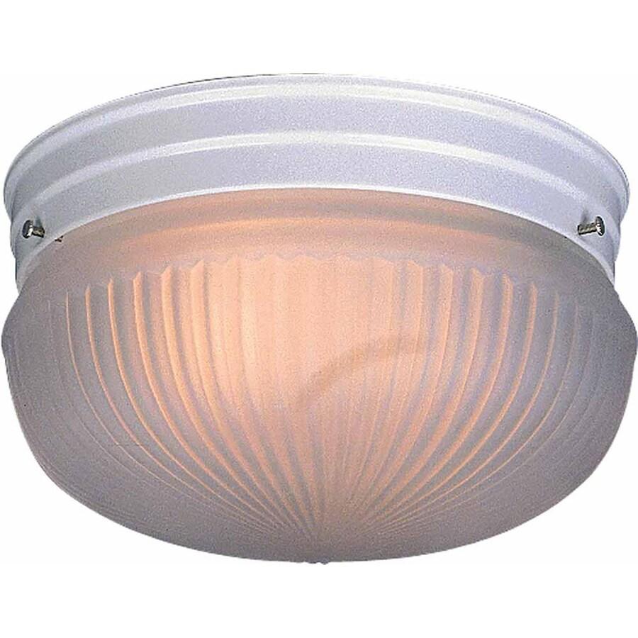 Bowden 9-in W White Ceiling Flush Mount Light