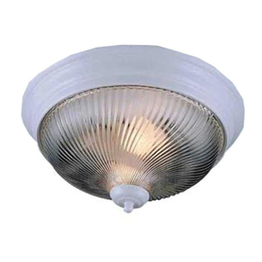 Amsden 13-in W White Ceiling Flush Mount Light