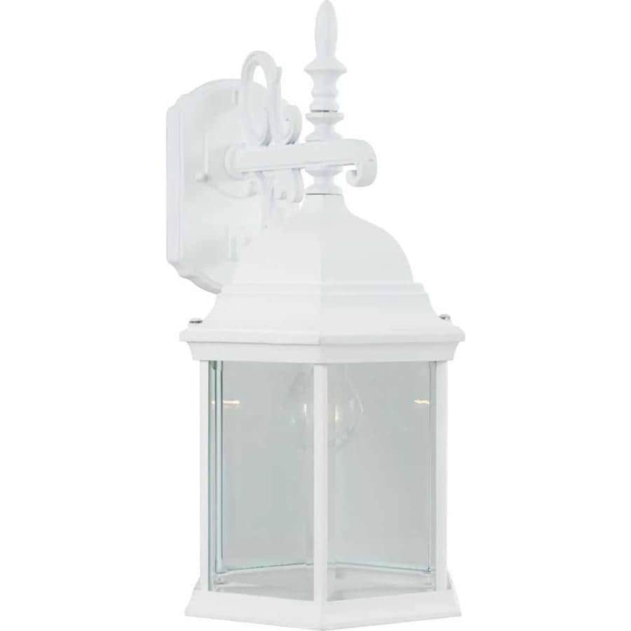 Slayton 18.75-in H White Outdoor Wall Light