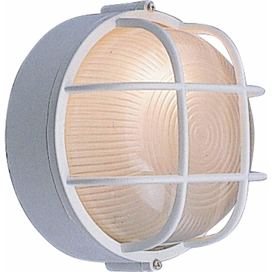 Runion 7.5-in H White Outdoor Wall Light
