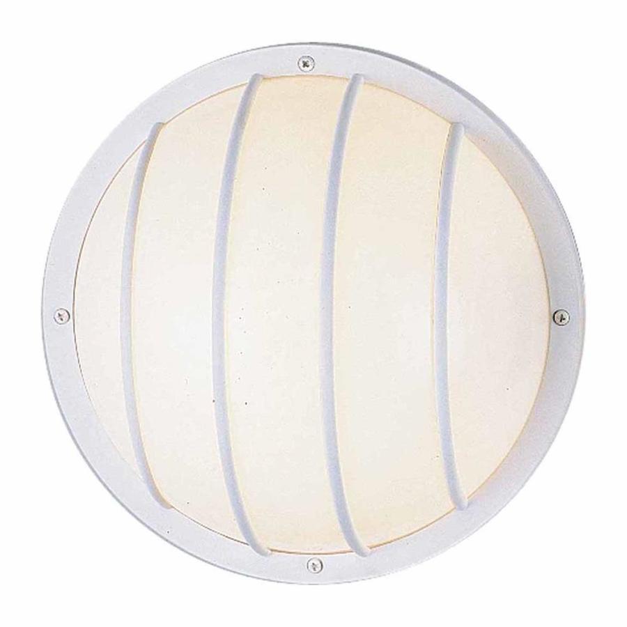 Mawtowa 10.25-in H White Outdoor Wall Light