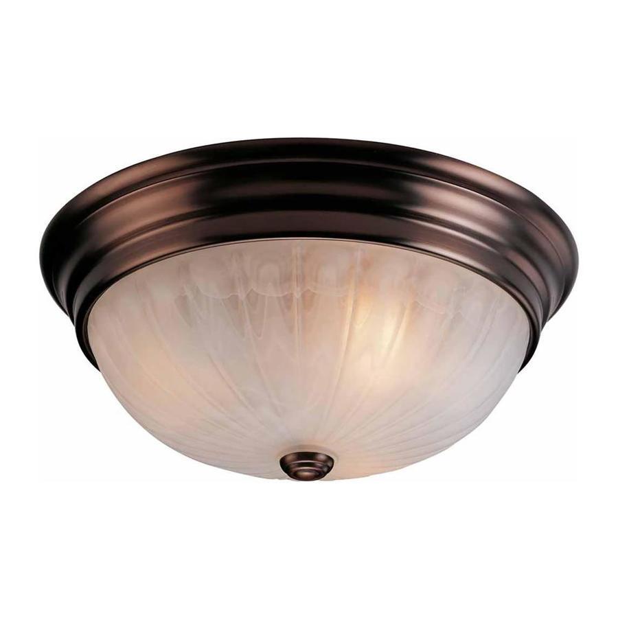 Oreana 15-in W Antique Bronze Ceiling Flush Mount Light