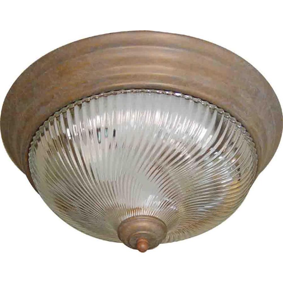 Amsden 15-in W Prairie Rock Ceiling Flush Mount Light