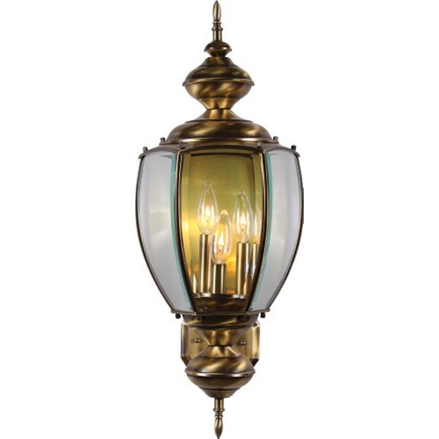 Aurand 26-in H Antique Solid Brass Outdoor Wall Light
