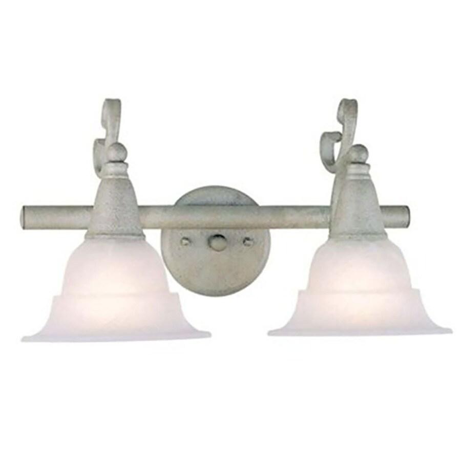 Fabens 2-Light Antique Silver Vanity Light