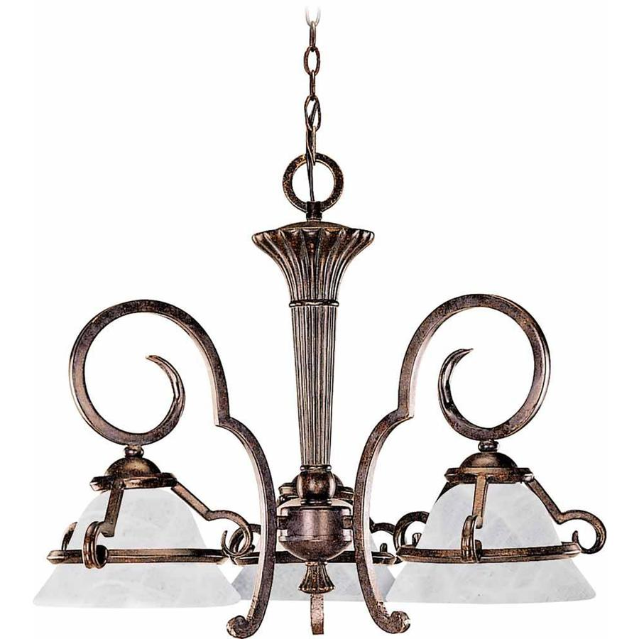 Avalon 24-in 3-Light Imperial Bronze Alabaster Glass Candle Chandelier