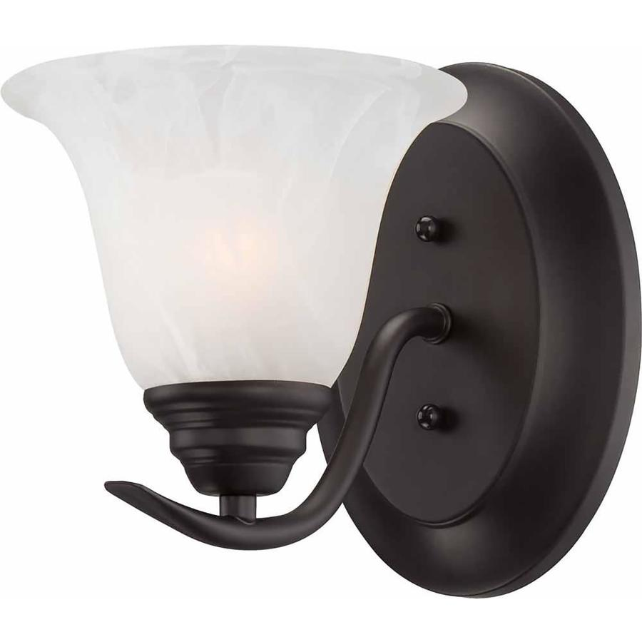 Ridlon 6.25-in W 1-Light Antique Bronze Directional Hardwired Wall Sconce