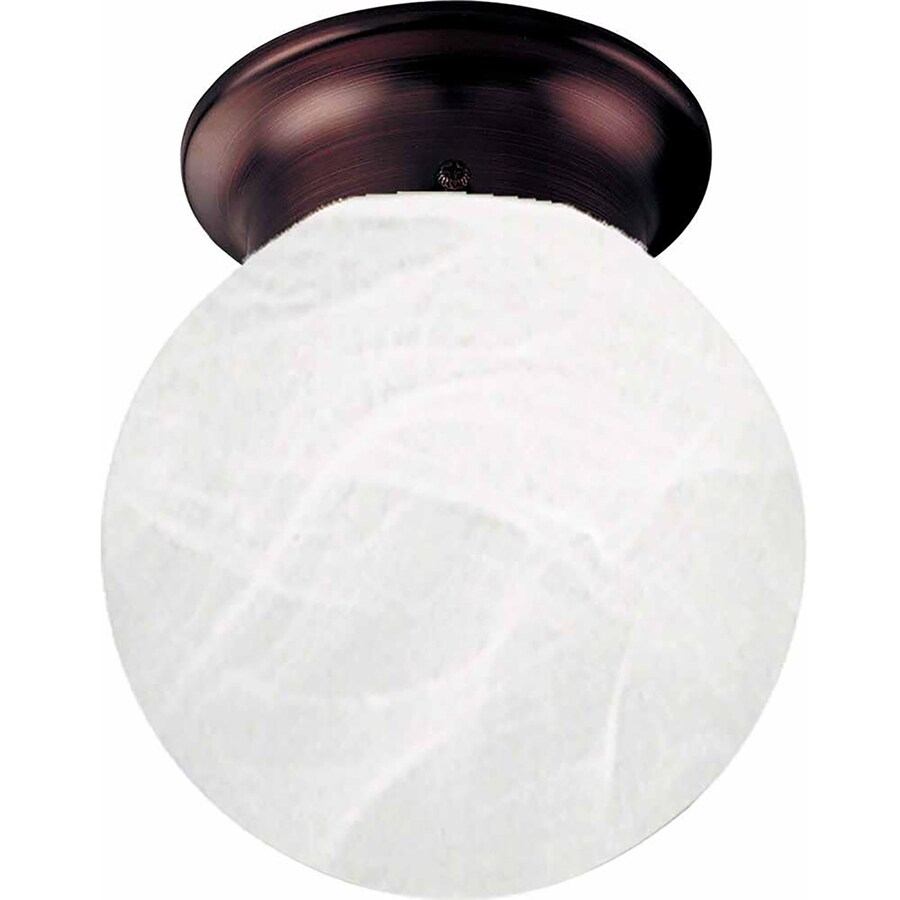 Niantic 6-in W Antique Bronze Ceiling Flush Mount Light