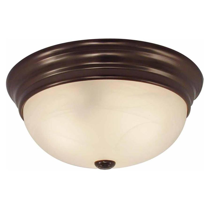 Oreana 11-in W Antique Bronze Ceiling Flush Mount Light