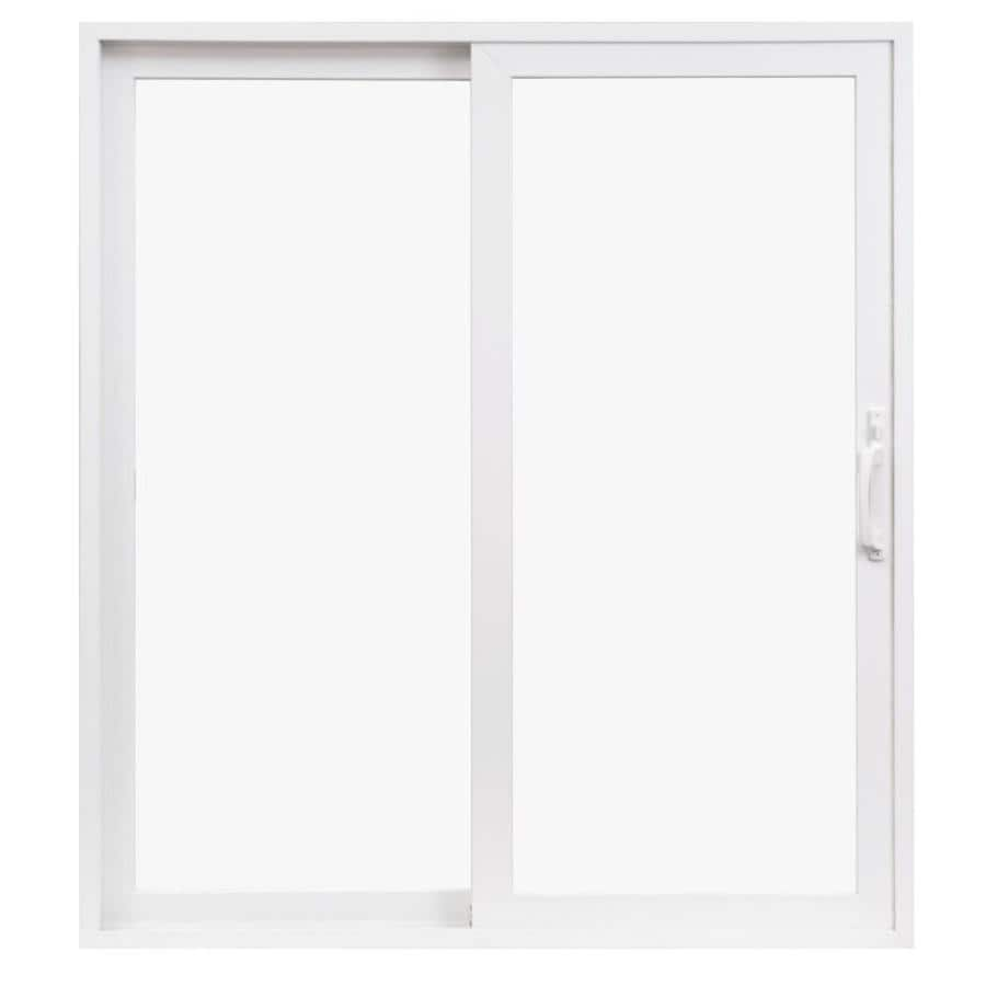 Pella 350 Series 71.5-in Clear Glass White Vinyl Sliding Patio Door