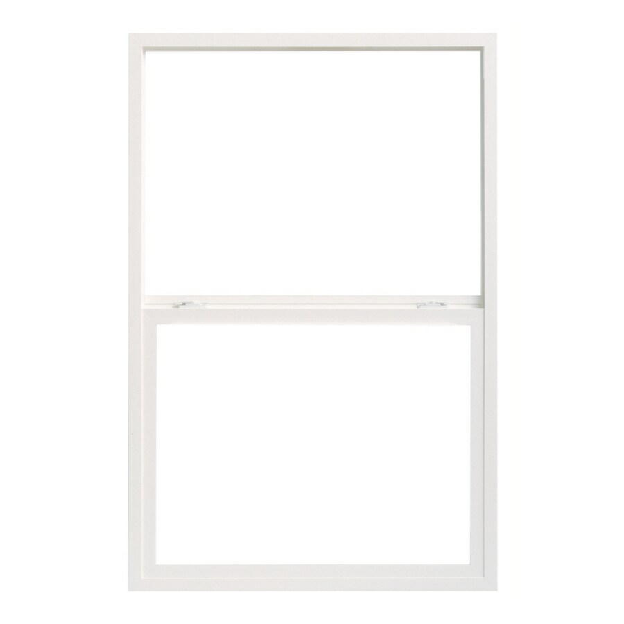 Pella 24X38 ThermaStar by Pella Single Hung High Performance Vinyl 10 Series Clear Insulated Glass White with Screen