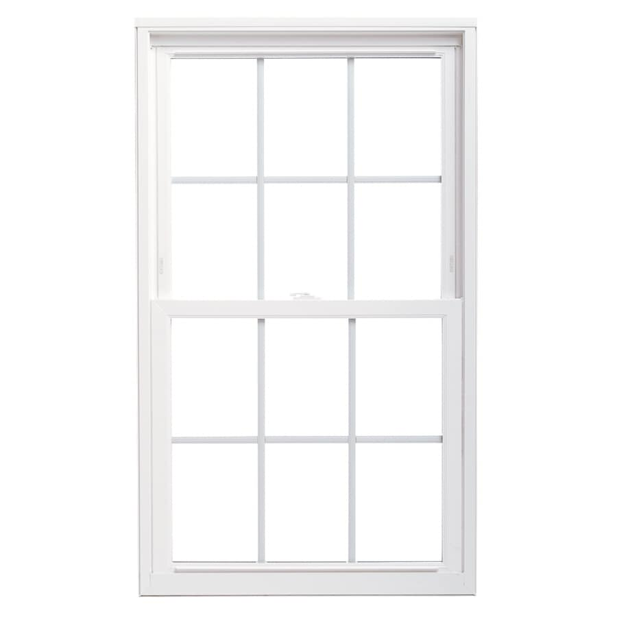 ThermaStar by Pella Vinyl Double Pane Annealed Replacement Double Hung Window (Rough Opening: 36-in x 48-in; Actual: 47.5-in x 35.5-in)