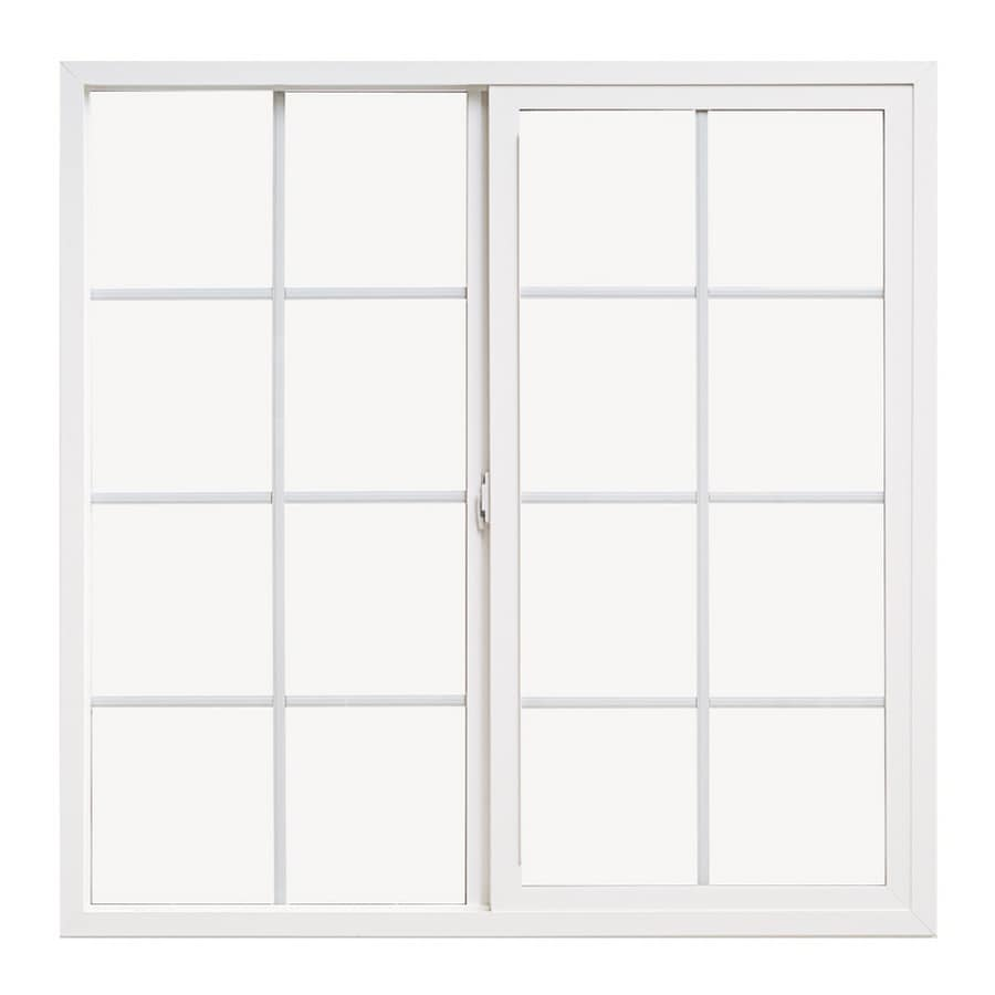 Pella 36X36 ThermaStar by Pella Sliding Window Vinyl 10 Series Grid Insulated Glass White with Screen