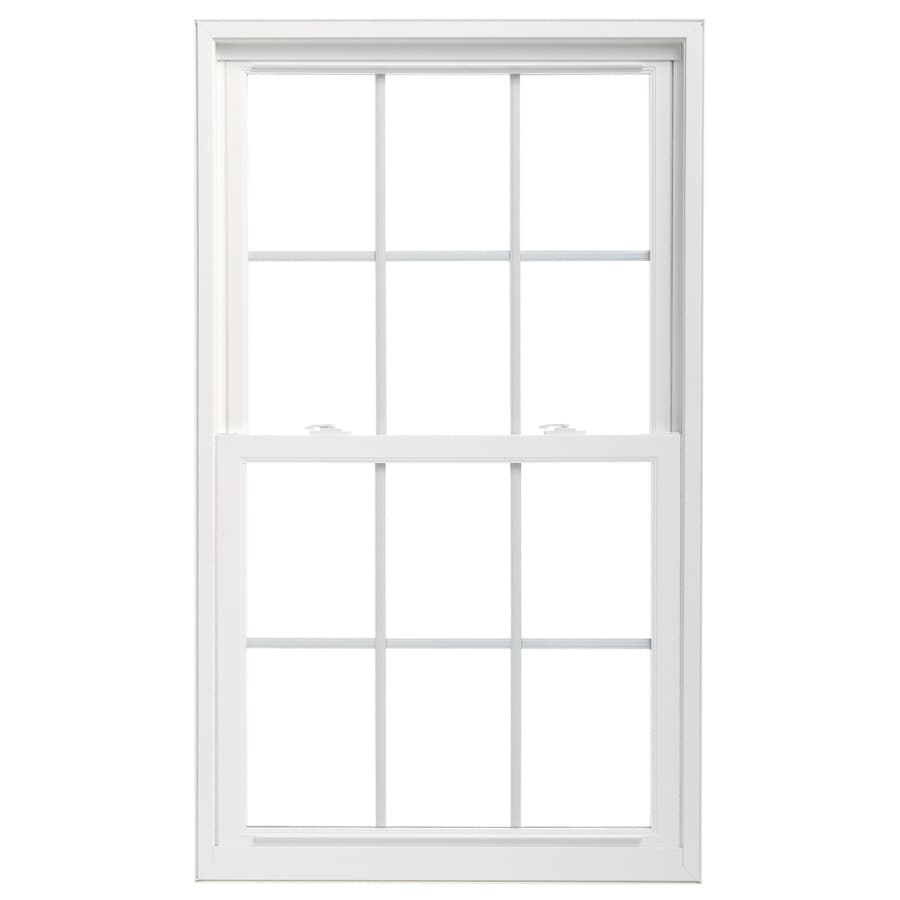 "Pella 36X54 ThermaStar by Pella Double Hung Vinyl 25 Series Grid Insulated Glass White with Screen 4-9/16"" Jam Extension"