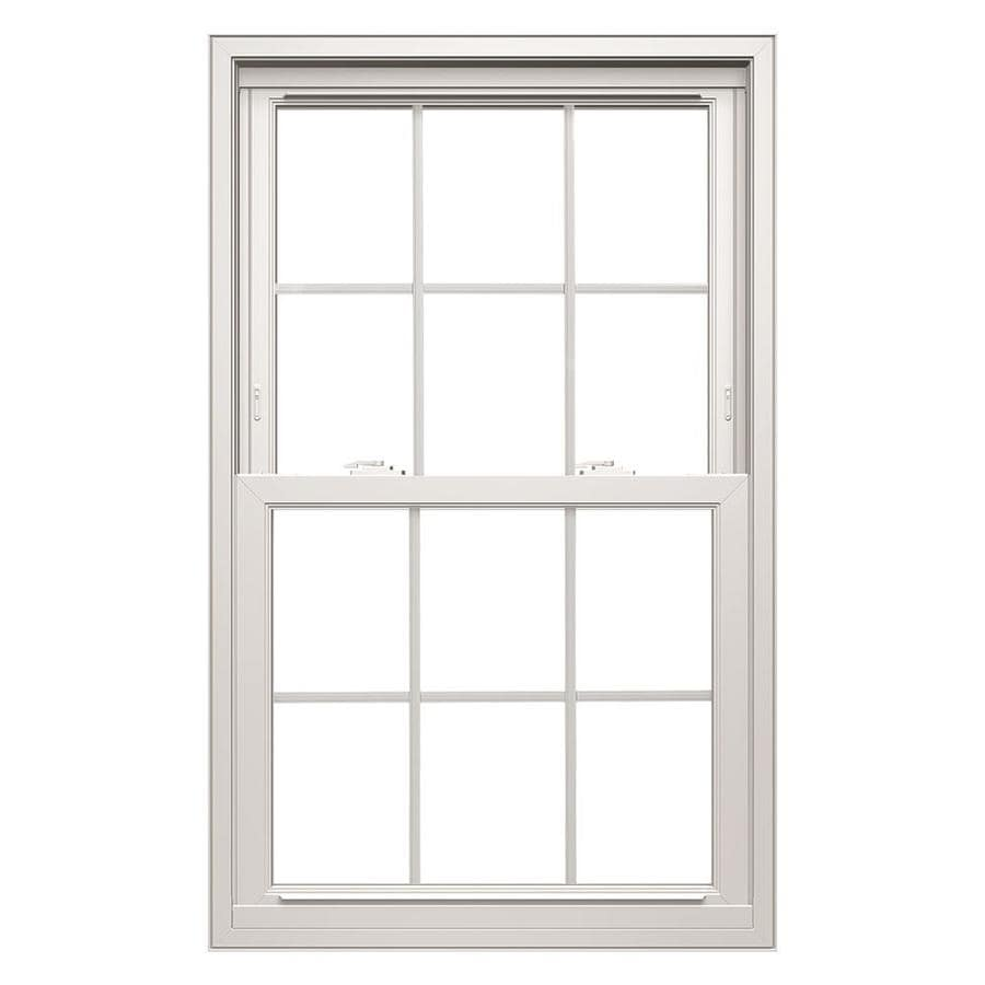 ThermaStar by Pella Vinyl Double Pane Annealed Replacement Double Hung Window (Rough Opening: 32-in x 46-in Actual: 31.5-in x 45.5-in)