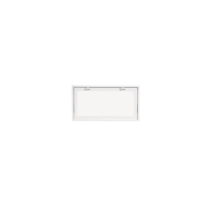 ThermaStar by Pella 10 Series Tilting Vinyl Double Pane Annealed New Construction Basement Hopper Window (Rough Opening: 32-in x 15-in Actual: 31.75-in x 14.75-in)
