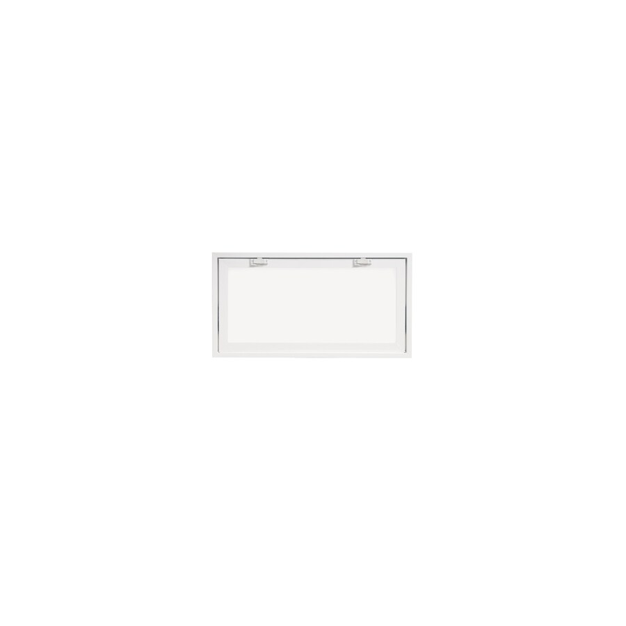 ThermaStar by Pella 10 Series Tilting Vinyl Double Pane Annealed New Construction Basement Hopper Window (Rough Opening: 32-in x 17-in Actual: 31.75-in x 16.75-in)