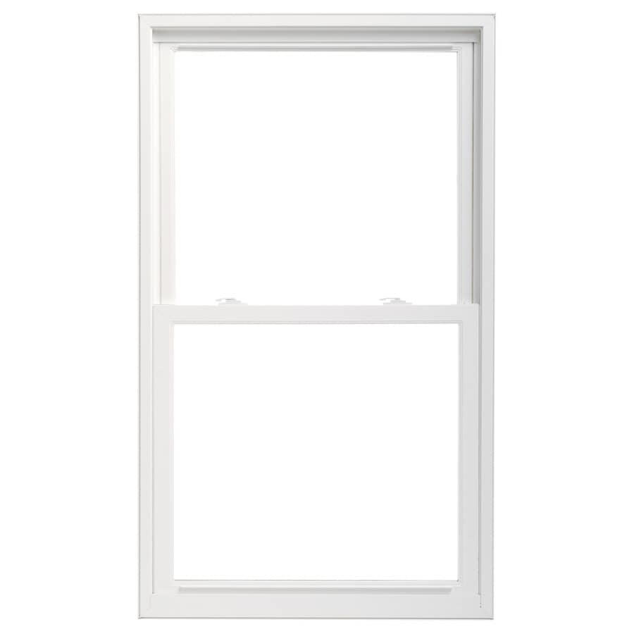 Pella 36X72 ThermaStar by Pella Double Hung High Performance Vinyl 25 Series Clear Insulated Glass White with Screen
