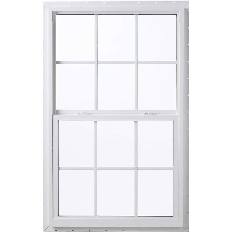 ThermaStar by Pella Vinyl Double Pane Annealed Single Hung Window (Rough Opening: 19.88-in x 38.38-in; Actual: 19.38-in x 37.88-in)
