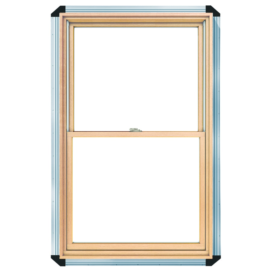 Pella 450 Series Wood Double Pane Annealed New Construction Double Hung Window (Rough Opening: 28.25-in x 62.25-in Actual: 27.5-in x 61.5-in)