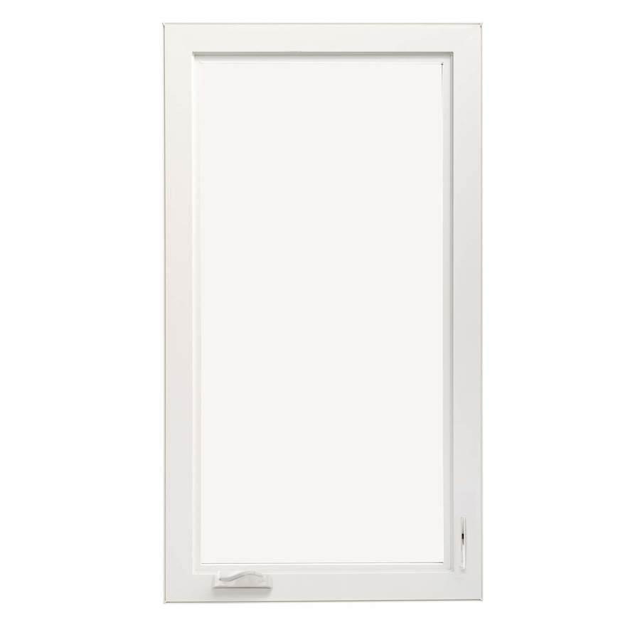 ThermaStar by Pella 1-Lite Vinyl Double Pane Annealed New Construction Casement Window (Rough Opening: 30-in x 48-in Actual: 29.5-in x 47.5-in)