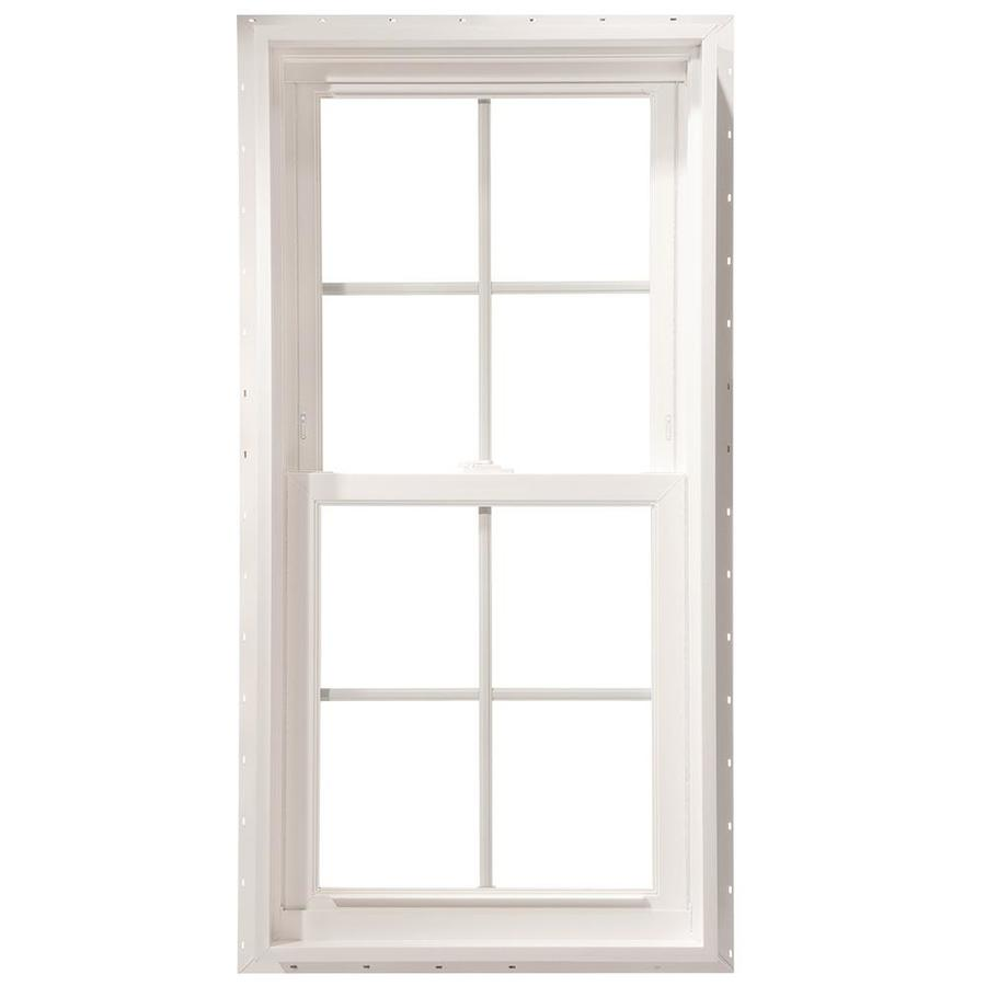 ThermaStar by Pella Vinyl Double Pane Annealed New Construction Double Hung Window (Rough Opening: 27.75-in x 37.75-in Actual: 27.5-in x 37.5-in)